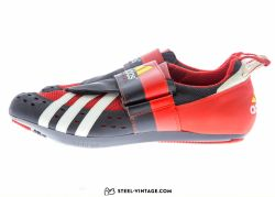 Adidas Tridynamic Red and Yellow Cycling Shoes NOS 42 2/3