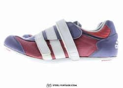 Adidas Bordeaux and Blue Classic Cycling Shoes NOS