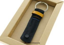 Cycled Yellow Brown and Blue Key Holder
