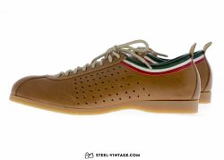 Sports Italian Flag Leather Cycling Shoes