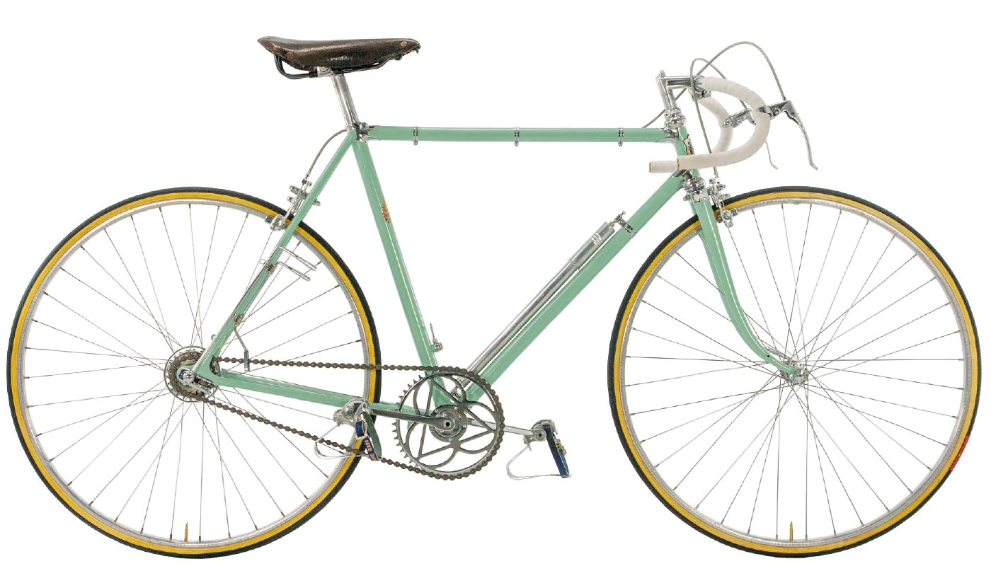 Typical Bianchi Celeste Color Bicycle