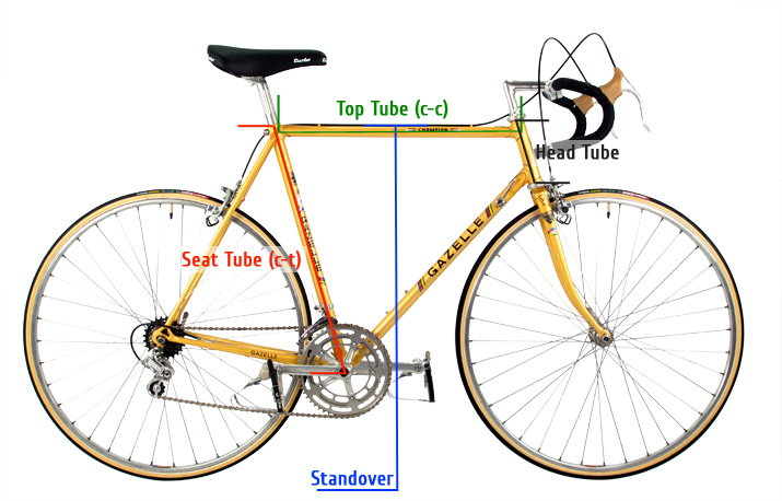 Size of a classic bicycle