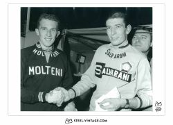 Art Print Felice Gimondi Shaking Hands Gianni Motta