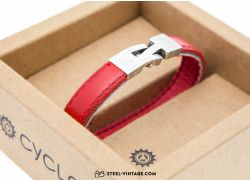 Cycled Red Wrist Band
