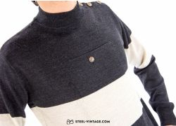 Retro Woolen Sweater Black/Ivory