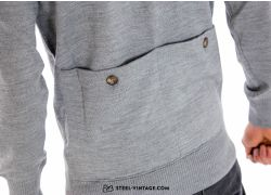 Retro Woolen Sweater Grey/White