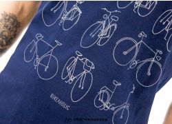 Bike Retro T-Shirt - navy
