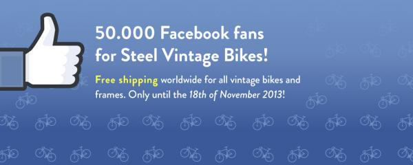 Over 50.000 Facebook Fans for Steel Vintage Bikes